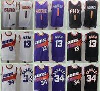 En Kaliteli Erkek Vintage Devin 1 Booker Steve 13 Nash Charles 34 Barkley Basketbol Formaları Dikişli Gömlek Nefes Boyutu S-2XL Hızlı Kuru