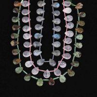 6 Pierre ChoiceFulleL Strand Strand Natural Labrodorite Roses Quartz Steaux Slice Goutte d'eau Perles en vrac pour DIY Bijoux Fabrication DG-35JBDJ