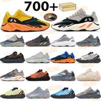 망 700 달리기 신발 태양 솔리드 그레이 남성 여성 운동화 카본 블루 오렌지 정적 크림 형광체 관성 넥타이 염료 반사 트레이너 상자