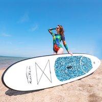 Funwater Uscaeuu Entrepôts Drophousses Livraison Dressée dans les 7 jours Panneau de surf 305 * 76 * 15cm Panie gonflable PVC Pagaie gonflable en gros Stand up paddleboard sup isup