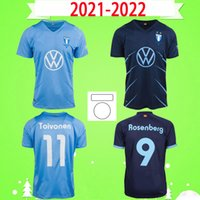 21 22 Malmö FF Soccer Jersey 2021 2022 مالمو Camisetas Ola Toivonen Anders Christiansen Isaac Kiese Thelin Markus Rosenberg Jonas Knudsen الصفحة الرئيسية قميص كرة القدم