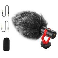 Video Mini Kayıt Mikrofon Gürültü Azaltma Görüşme Mic Için Sony Nikon Canon Fuji DSLR Kamera Akıllı Telefon Vlog Mikrofonlar
