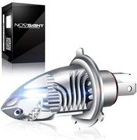 1pcs H4 9003 HB2 Led Headlight Bulb Motorcycle, High & Low Beam Light Conversion Kit, 6000LM Plug and Play Error Free for Motorbike Light 6000K White