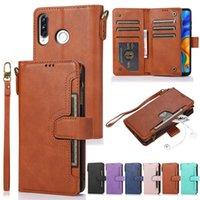 Reißverschluss Brieftasche Flip Leder Telefon Fall für Huawei P30 Lite P20 P40 Pro-Purse Kartenabdeckung Mate 20 COQUE ETUI HOESJE ZELLEN