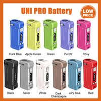 Original Yocan UNI PRO Box Mod 650mAh Preheat VV Battery For 510 Thick Oil Vape Atomizer Cartridge Ecig With OLED Display 100% Authentic