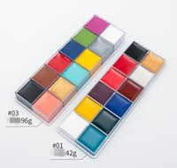 96g colorful makeup Eyeshadow Halloween Pigment Oil Drama Makeup 12 Colors Body Paint Waterproof Cosmetic Shimmer Matte Stage Face Make up Easy to Wear
