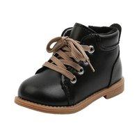 الخريف الشتاء الأطفال الأحذية grill الدانتيل متابعة زيبر الدافئة الفراء بطانة الفتيان الكاحل حجم 22-31