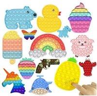 1 pc multicolor It Fidget Pushs Sensory Brinquedos Bubble Board Jogo Ansiedade Stress Reliever Crianças Adultos Autismo Necessidades Especiais CM18