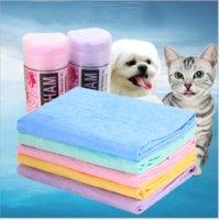 Pequeno 43 * 32 * 0.2cm PET Rápido de secagem rápida super absorvente máquina de toalha lavável adequado para cães e gatos Pacote de tambor de plástico