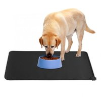Kennels & Pens Winter Dog Bed Mat Non-Slip Pet Car Seating Silicone Pad Cat Waterproof Feeding Food Water Placemat