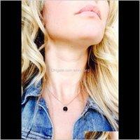 & Pendants Jewelry Drop Delivery 2021 Fashion Natural Lava-Rock Pendant Women Aromatherapy Essential Oil Diffuser Necklaces Balck Lava Beads