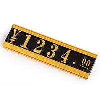 Novità Articoli Adesivo Prezzo adesivo Cubo Composite Numero in plastica Tag Commodity Shelf Tarser Dati Strip Etichetta Supporto in alluminio Metallo Segno Telaio