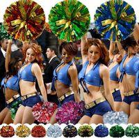 Événement Autres Party Fournitures Fleur Ball Carnaval Encoureur Pom Pom Poignée Poignée en plastique Pomorle Cadeau Dance Sports de la main 20 couleurs