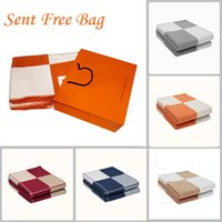 Luxury H Brand Cashmere Blanket Crochet Soft Wool Scarf Shawl Portable Warm Plaid Sofa Bed Car Soft Blanket