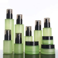 Storage Bottles & Jars Glass Hair Mask Container 120ml, Frosted Refill Packaging Cosmetics Green Lotion Bottle Wholesale Travel