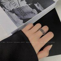Eröffnung Ringe Damen Buchstaben Frauen Ring Joint Hochzeit Erste Modeschmuck Paare Nette Vintage Edelstahl Silber Farbe Bague
