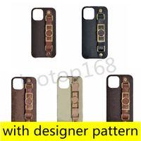 Роскошные моды дизайнерские телефонные чехлы для iPhone 11 11PRO 12 PRO MAX XS XR XSMAX 7 8 плюс высококачественный кожаный держатель браслета из кожи для мобильного телефона