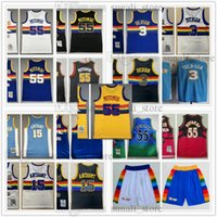 Mitchell Ness 1991-92 Dikembeb 55 Mutombo 1996-97 Jerseys Retro Basketball 2006-07 Allen 3 Iverson 2003-04 Carmelo 15 Anthony Couverct De Top Qualité