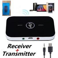 Transmetteur de récepteur audio Bluetooth 5.0 2 en 1 3.5mm Aux Sans Wireless Adaptateur de musique Dongle USB pour kit de voiture TV PC Casque