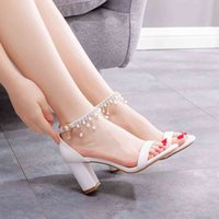 Dress Shoes Female high heels queen crystal, sexy plus size heels, wedding shoes, for women, classic, white with free FIAE