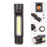 BATTERIA MULTIFUNZIONALE LED USB Batteria ricaricabile Potente T6 Torch Lato Pannelli Pannelli Lampade Linterna Tail Magnete Torcia da lavoro Torce