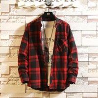Hohe Qualität Herren Yellow Langarm Büffel Mode Koreanische Flanell Hemden 4xl Männer Hip Hop Streetwear Kleidung Newig1g