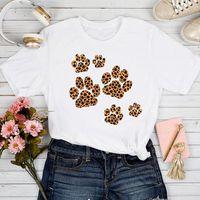 Women's T-Shirt T-shirts Women Leopard Dog Love Clothing 90s Pet Printing Spring Summer Tshirt Top Lady Stylish Ladies Print Clothes Tee