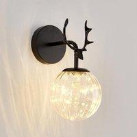 Loft Black Painted Metal Wall Lamp Industrial Cast Iron Living Room Light Decorative Led Lamps Nordic Lanterns E27 Sconce