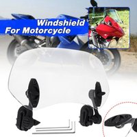 Motorcycle Windshield 28Cm Universal Adjustable Clip On Extension Spoiler Blade Wind Deflector For Scooter