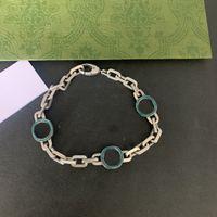 Melhor Design Exclusivo Design de Cartas de Moda Pulseira Snap Pulseira Verde Esmalte de Alta Qualidade Prata Banhado Vintage Bracelet Abastecimento NRJ