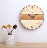 Wall Clocks Clock Simple Modern Design Wooden For Bedroom Wood Watch Home Decor Silent