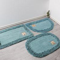 Banyo Yuvarlak Kat Mat Ev Mutfak Emici Yatak Odası Çalışma Oturma Odası Kaymaz Kapı 80 cm Uzun 50 cm Geniş Halılar
