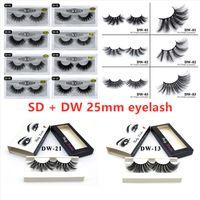 3D Mink Eyelashes + Nuevo 25 mm 2 tipos suaves Natural Falsh Falsh Falsh Eye Eye Lestes Extensión 20 estilos y 26 estilos
