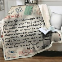 Blankets Letter To My Granddaughter Plush Throw Sherpa Fleece Bedspreads Blanket Vintage Bedding Square Picnic Wool Soft