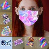 Máscara de impresión de adultos para adultos de tinte azul y rosa con tres capas de la diosa de la moda de la moda de polvo a prueba de polvo y la máscara de impresión personalizada