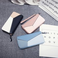 Factory Direct Sale 75% OFF Wallet women 2021 new Korean long thin card student splicing small wallet bags