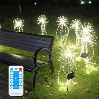 Solar Lamps Powered 200 LED Firework Lights Fairy String Outdoor Garden Waterproof Lawn Starburst Patio Lamp Decoration