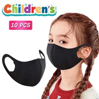 10pc Kids Mask Reusable Mouth Face Mascara Washable Child Realistic Black Cloth s Halloween Cosplay