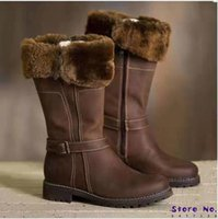 Boots 2021 Women Knee High Big Size Low Heels Shoes Booties Gladiator Vintage PU Leather Winter Snow Warm Shoe Botas Mujer