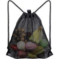 Домашние сумки для хранения Многоразовые сумка для покупок фрукты овощи продуктовый покупатель инструмент сетки ткани Drawstring Sach GWD9143