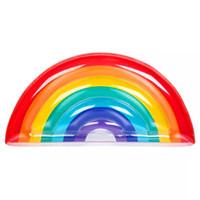 Красочные воздушные матрасы мода надувная вода гамак пвх радуга плавающая кровать плавательный бассейн пляжные тапочки лаундж поплавки трубы