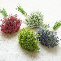 16 pcs / conjunto bebês respiração flores artificiais falsificados gypsophila diy bouquets florais arranjo casamento casa jardim decoração festa dsf0331