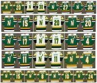Vintage Minnesota North Stars Jersey 17 Basil McRae 4 Craig Hartsburg 11 Mike Gartner 15 Dave Gagner 20 Dino Ciccarelli Churla Retro hockey