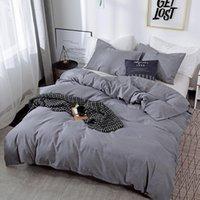 Bedding Sets Pure Color Sanding Set Nordic Ins Style Bedroom Queen Explosive Allmatch Comforter CN(Origin)