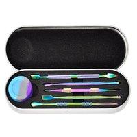 Paslanmaz Çelik Dabber Tool Kiti 5 adet ile 6 ml Silikon Kavanoz Dabber Araçları Yağı Balmumu DAB Aracı Cam Silikon Sigara Su Borusu