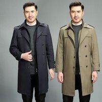 كان معطف الشتاء الجديد من زراعة الرجل الأخلاق مع الركبة الطويلة سميكة يمكن إزالة المثانة الرياح البريطانية وسيم الرجال معطف