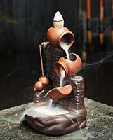 Purple Sand Smoke Backflow Incense Burner Pot By Pot Wall Censer Stick Incense Holder Creative Home Decoration wjl0016