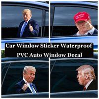 2024 الانتخابات ترامب الشارات ملصقات السيارات مضحك راية الأعلام اليسار نافذة نافذة قشر ماء pvc صائق حزب اللوازم