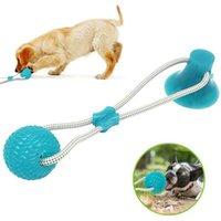 Haustier Spielzeug mit Saugnapf Hund Push Spielzeug mit TPR Ball Haustier Zahnreinigung Kaugummi Hundespielzeug für kleine Hunde Gummi Hund Spielzeug