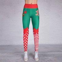 طماق اليوغا البدلة المرأة عيد الميلاد المطبوعة الملابس السراويل اللياقة البدنية طماق